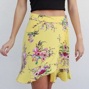 Dresses & Skirts - yellow floral skirt
